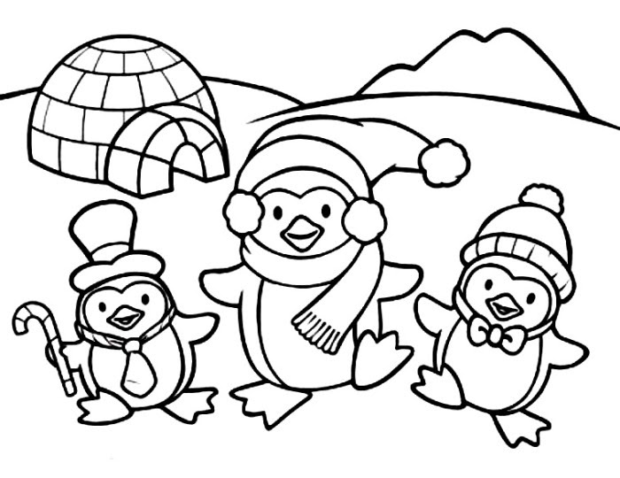 baby penguin coloring pages cute baby penguin coloring pages