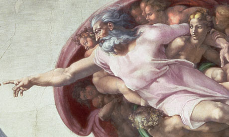 Image result for sistine chapel ceiling adam and god