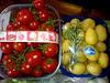 cherry tomatoes and baby potatoes