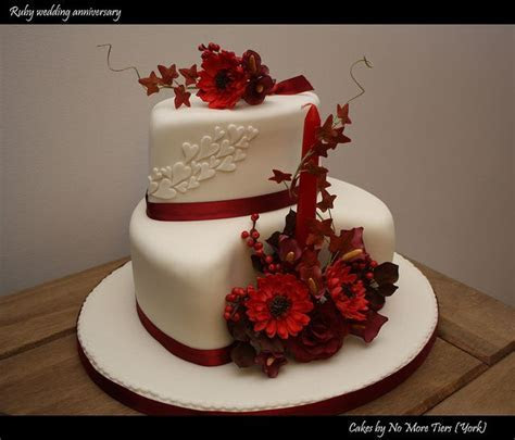 25  best Ruby wedding cake ideas on Pinterest