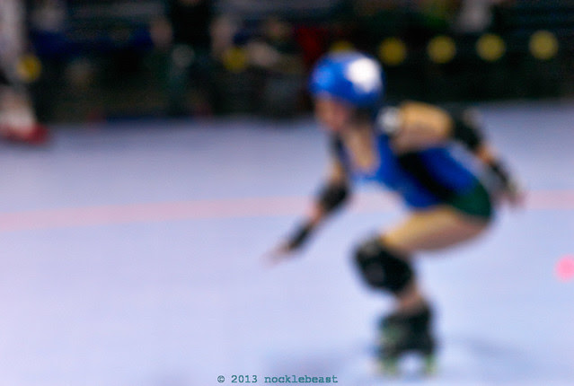 the roller derby jammer as an idea, not the jammer herself