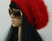 Slouchy Beanie Tams Beret Winter Beanies Earwarmers For Teens Women  In Red Strawberry