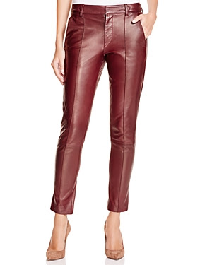 Vince Leather Slim Leg Pants