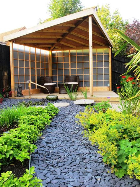 foto  giardini zen stupendi  stile giapponese
