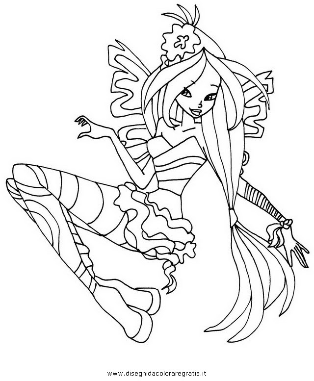 Winx Club Sirenix Coloring Pages Bloom Best Free