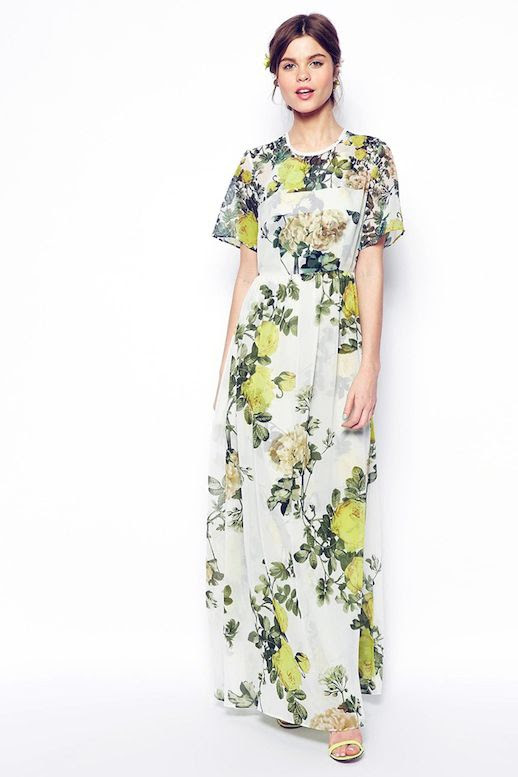 Le Fashion Blog 3 Floral Dresses To Wear To Summer Wedding TShirt Maxi Style Close Yellow Heeled Sandals photo Le-Fashion-Blog-3-Floral-Dresses-To-Wear-To-Summer-Wedding-TShirt-Maxi-Style-Close.jpg