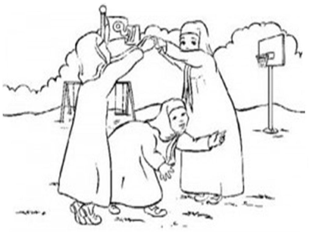 Mewarnai Gambar Kartun Anak Muslimah 18 Auto Electrical Wiring Diagram