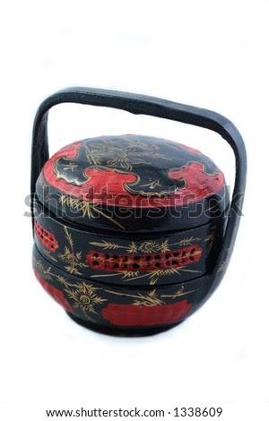 stock photo Chinese Wedding Gift Basket
