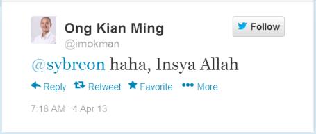 imokman@sybreon haha, Insya Allah