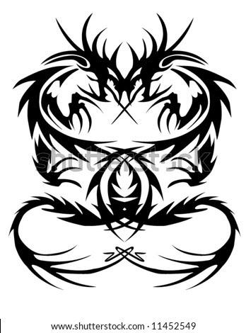 tribal dragon designs. of a tribal dragon tattoo