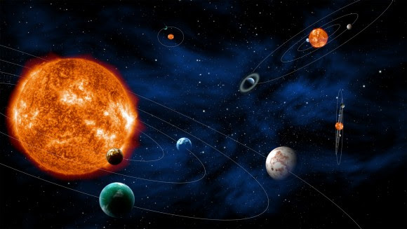 Artist's conception of exoplanet systems that could be observed by PLAnetary Transits and Oscillations of stars (PLATO), a European Space Agency telescope. Credit: ESA - C. Carreau