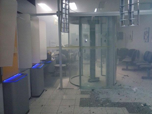 Agência do Banco do Brasil ficou destruída (Foto: Jonathan Halyson)