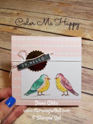Color Me Happy Birds Diana Gibbs