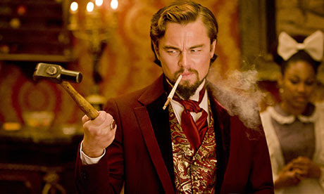 Leonardo DiCaprio as Calvin Candie in Django Unchanined.
