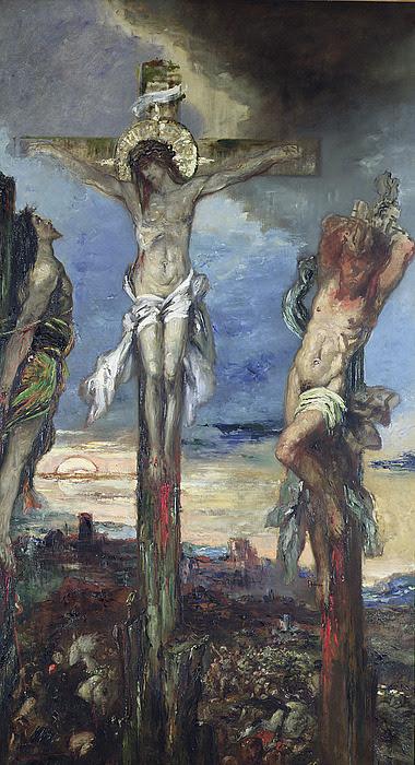 Résultats de recherche d'images pour «Gustave Moreau Le Christ et les deux larrons»