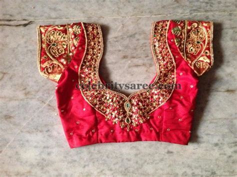 Simple Work Blouses for Silk Sarees   Saree Blouse Patterns