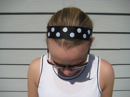 BIC polka dot headband
