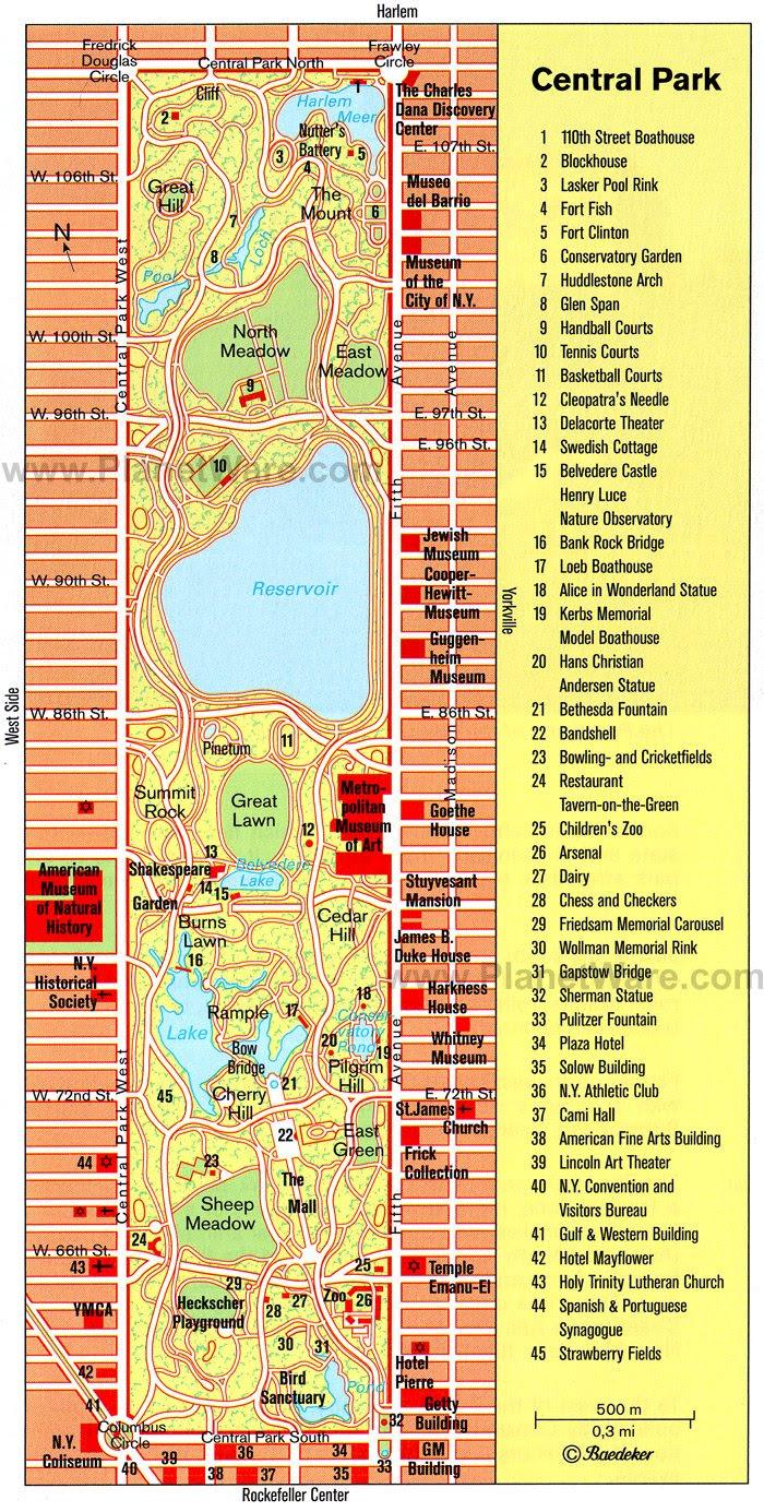 Central Park Map Pdf Central Park Map Pdf   Color 2018