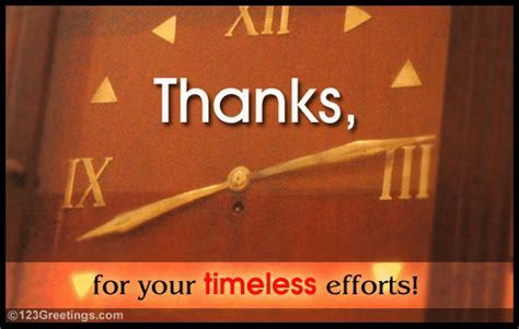 Thanks For Your Effort! Free At Work eCards, Greeting