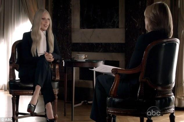 Revelação: Lady Gaga falou sobre a experiência da arte, enquanto ela estava sendo entrevistada por Katie Couric