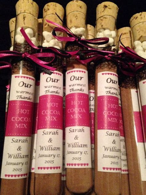 Hot Chocolate Test Tube Wedding Favors by