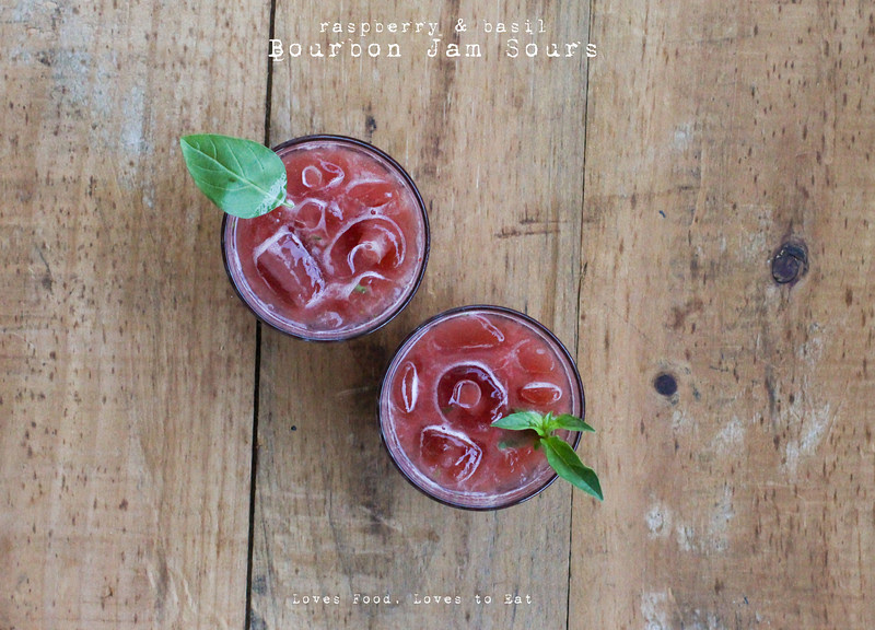 Raspberry & Basil Bourbon Jam Sours// Loves Food, Loves to Eat