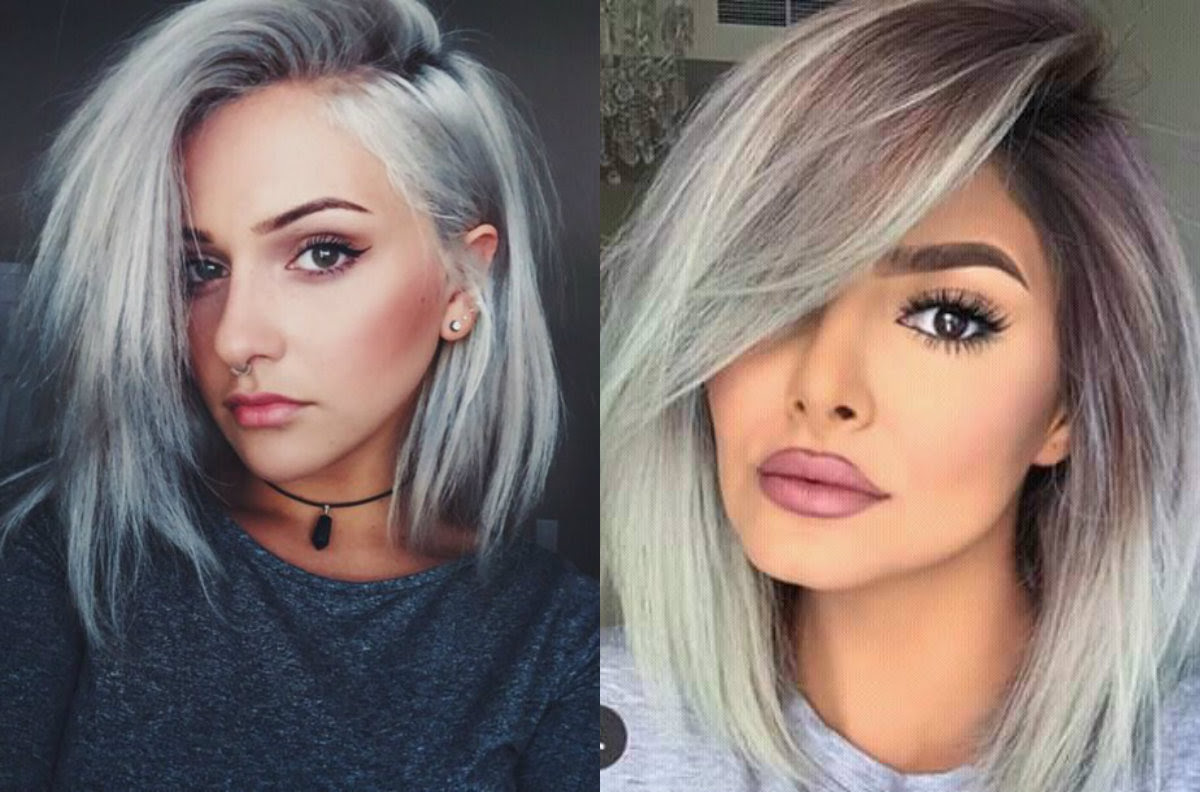Dare Try Ice Cold Silver Bob Hairstyles Hairdromecom
