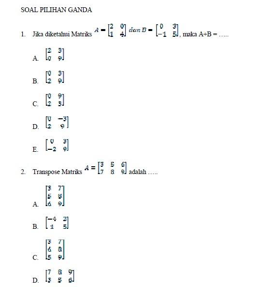 Soal Matematika Sma Kelas Dan Pembahasannya  newhairstylesformen2014.com