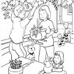 fisa de colorat_familie facand pomul de iarna