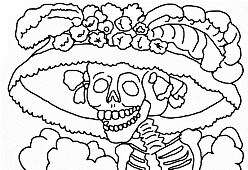 Dibujos Para Dia De Muertos Con Color Latest Dibujo De Calavera