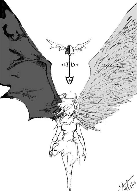 angels  demons battle drawings angelsanddemonsby
