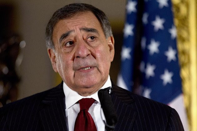 FILE - This Jan. 19, 2013 file photo shows Defense Secretary Leon Panetta speaking during a news conference in London. Panetta has removed US military ban on women in combat, opening thousands of front line positions. (AP Photo/Jacquelyn Martin, File)