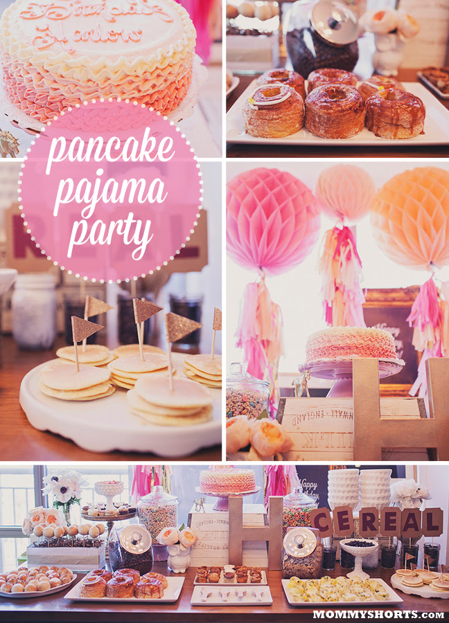 A Pancake And Pajama Party For Harlows 1st Birthday Mommy Shorts