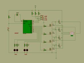 PIC16F84 Mosfet Bước điều khiển động cơ mạch