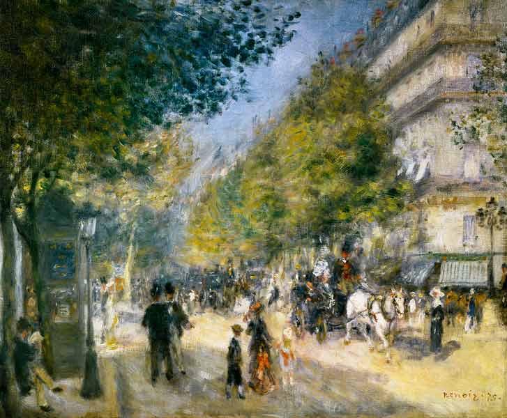 Pierre-Auguste Renoir - Los grandes bulevares