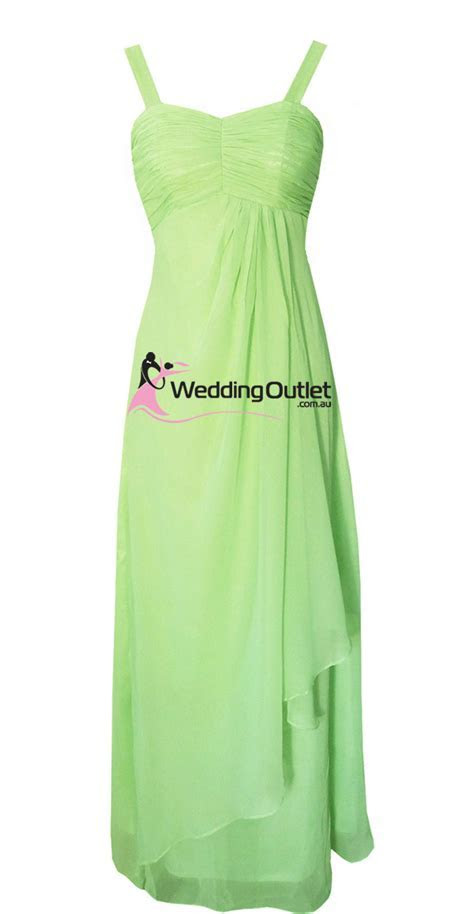Apple Green Bridesmaid Dresses Style #G101 No Sequins on