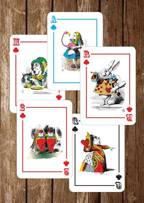 Alice in Wonderland Playing Cards PRINTABLES PDF   Instant