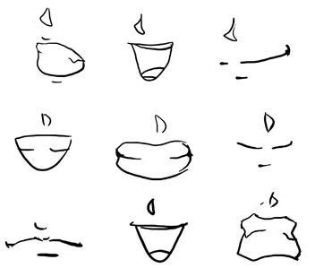 draw anime lips mouths   reference