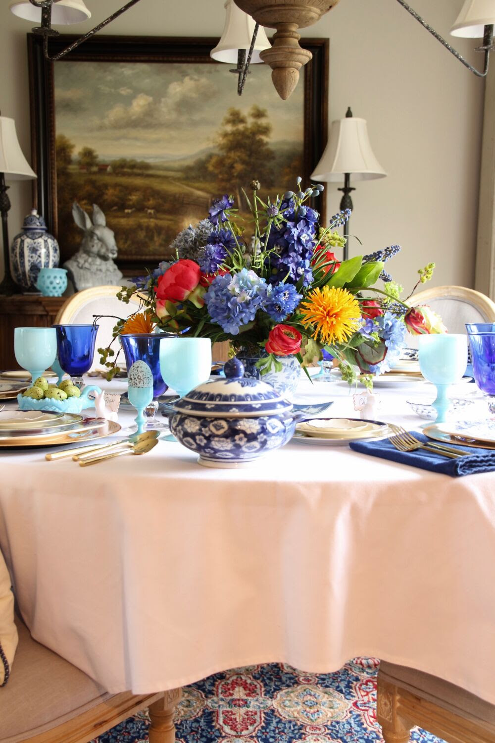 Setting the Table for Easter Dinner: A Colorful Floral ...