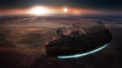 star wars millennium falcon  wallpapers  computer