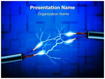 Electrical Energy Powerpoint Template Background Subscriptiontemplates Com
