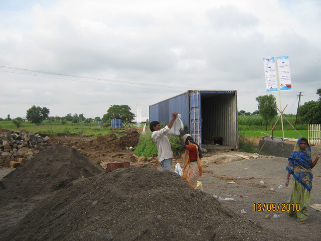 Site of Aishwaryam Courtyard 1 BHK 2 BHK 3 BHK Flats on Akurdi Chikhali Road
