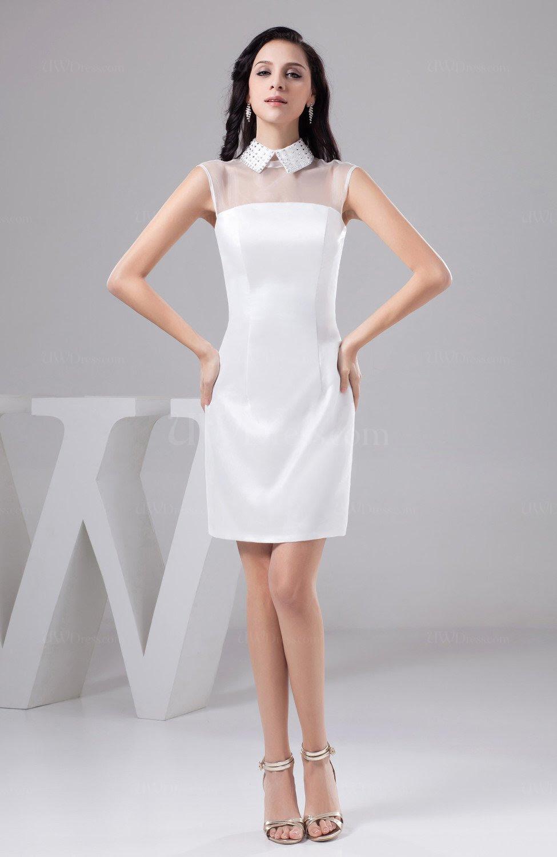 white short party dress affordable plus size modern plain