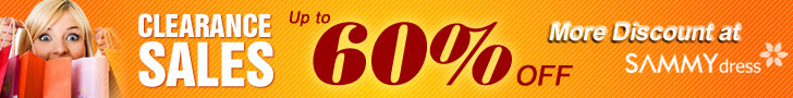 Clearance Sales 60% at Sammydress