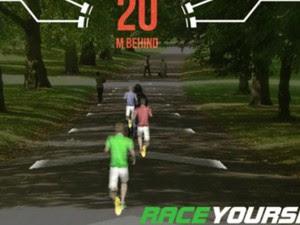 App permite que usário corra atrás dele mesmo por meio de avatar em 3D (Foto: BBC)