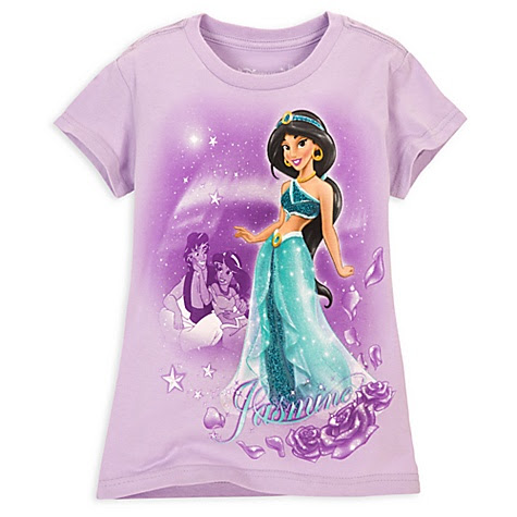 Turquoise Glitter Jasmine Tee for Girls