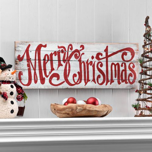 Merry Christmas Word Wood Signs Home Design And Interior