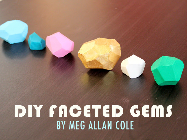 DIY Holiday Gift: Faceted Gems by Meg Allan Cole