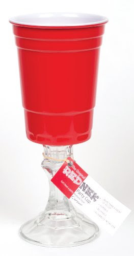Carson Home Accents The Original RedNek Red Party Cup with Clear Candle Stick Base (16-ounce Capacity)