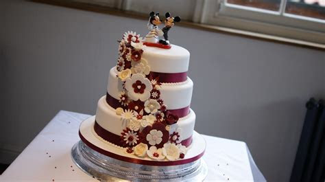 Disney Theme 3 Tier Wedding Cake   Bakealous